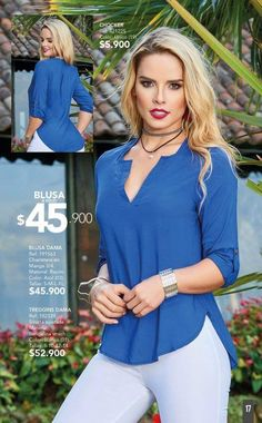 Blusa Blouse Dress, Jeans Dress, Blue Party Dress, Outfit Combinations, Blouse Styles, Casual Tops, Nice Dresses, Fashion Dresses, Clothes For Women
