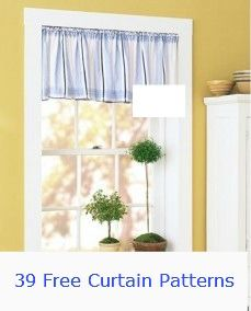 39 Free Curtain Patterns