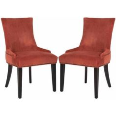 Safavieh Lester Dining Chair, Set of 2, Red