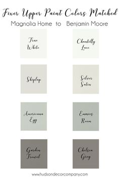 Remodeling your house and looking for farmhouse paint colors? magnolia paint is hand picked by joanna gaines herself. find magnolia paint colors matched to Magnolia Paint Colors, Fixer Upper Paint Colors, Magnolia Homes Paint, Matching Paint Colors, Bedroom Paint Colors, Interior Paint Colors, Paint Colors For Living Room, Paint Colors For Home, Interior Painting