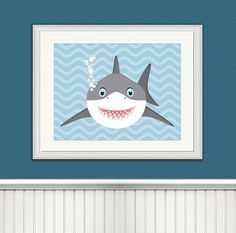 Baby Shark Illustration Shark Art Shark by ToobigshoesCreative