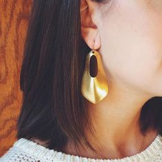 Our Milli Brass Earring is the perfect gift at $59!