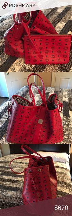 Mcm tote bag Red mcm tote bag MCM Bags Totes