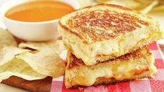 Grilled cheese goes gourmet with this elevated take on the classic sandwich. Made with Gruyère, cheddar and American cheeses, this three-cheese grilled cheese sandwich with bacon takes a childhood favorite to new, delicious levels. Bacon Sandwich Recipes, Bacon Sandwiches, Light Sandwiches, Grilled Cheese Recipes, Soup And Sandwich, Bacon Recipes, Wrap Sandwiches, Cooking Recipes, Sandwich Ideas