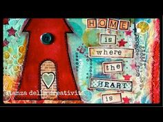 """▶ mixed media art with """"Simple Stories Homespun"""" - YouTube"""