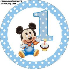 Baby Mickey Birthday Clipart - Clipart Suggest Baby Mickey Mouse, Festa Mickey Baby, Mickey E Minie, Fiesta Mickey Mouse, Mickey Mouse 1st Birthday, Mickey Party, Birthday Thank You Cards, Happy Birthday Signs, Disney Babys