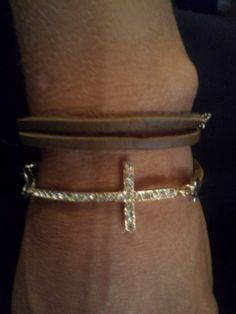 Genuine Leather Multiwarp Artisan Silver Chain Cross by SimplyYue, $12.50