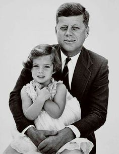 President Kennedy and daughter Caroline