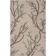Surya HDP2001-23 Hudson Park 2' x 3' Rectangle Synthetic Hand Tufted Floral Area - gray