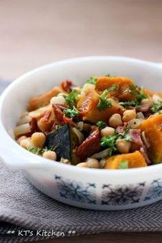 カボチャとひよこ豆、ドライトマトの洋風煮|レシピブログ