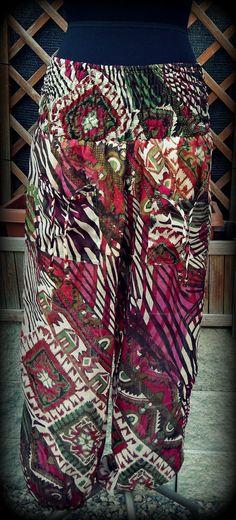 Pantaloni per yoga in chiffon, comodi per viaggi, stile indiano boho gipsy, per l'estate, , stile hippie, unisex. Taglia unica. on Etsy, 32,00€