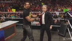 The Daily Show host Jon Stewart went wild while facing his long-time enemy Seth Rollins during the WWE Monday Night Raw and kicked him between his legs! Watch the video below.