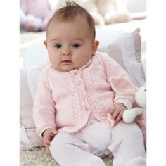 Free Intermediate Baby's Cardigan Knit Pattern