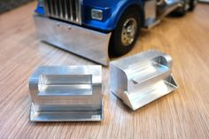 Custom Pair Aluminum Side Step for Tamiya R/C 1/14 Semi King Hauler #TamiyaKnightHaulerGlobeLiner
