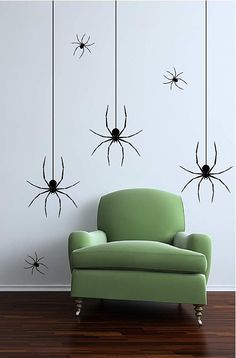 Spider vinyl wall decals - creepy, yet cool!