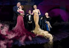 Follies Stage Art with Danny Bernstein, Bernadette Peters, Ron Raines, Jan Maxwell & Elaine Paige