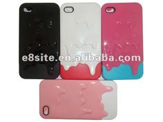 Ice Cream Design Slider Hard Phone Case For iPhone 4S/4G  1.Made of PC material  2.Various colors available  3.Have in stock