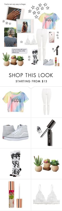 """""""°I know it will kill me when it's over, I don't wanna think about it, I want you to love me now°"""" by mystical-dimples ❤ liked on Polyvore featuring Topshop, Vans, Bobbi Brown Cosmetics, Stance, Teeez, Monki and Casetify"""