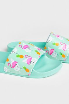 Available at Ardene. Jojo Siwa Birthday, Girls Flip Flops, Summer Slide, Fashion Slippers, Justice Clothing, Designer Sandals, Cute Baby Clothes, Cute Shoes, Beautiful Outfits