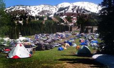 Camping at Grand Targhee, Alta, WY.