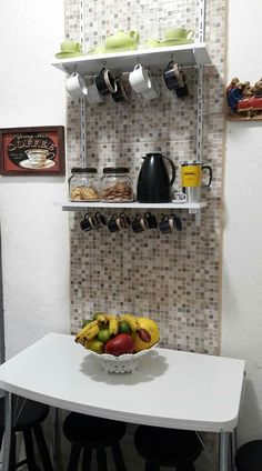 Decor, House Design, Kitchen Accessories, Small Kitchen, Interior, Kitchen, Room Design, Home Decor, Bar Design