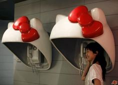 Hello Kitty phone booth!