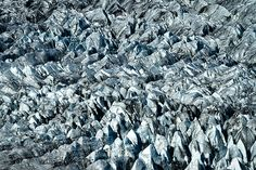 Photograph by Stuart Litoff.  #Details of a #glacial #field in southern #Iceland.