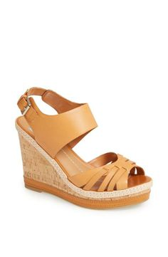 Love the nude wedge sandal!