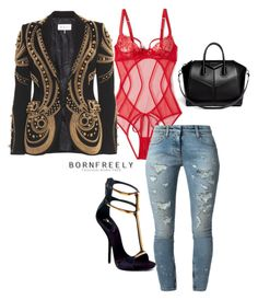 """""""Untitled #1097"""" by bornfreely on Polyvore featuring L'Agent By Agent Provocateur, Faith Connexion, Emilio Pucci, Givenchy and Kenneth Cole"""