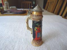 Vintage German Beer Stein Type Of Trinket Box / Tooth Pick Ho...