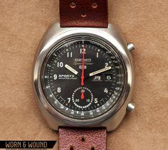e53646f00f5 Affordable Vintage  1970 Seiko 6139-7010 Chronograph - Worn   Wound