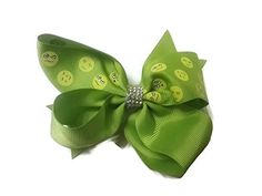Bling Bling Emoji Hair Bow  Lime Green  * Learn more by visiting the image link. Note:It is Affiliate Link to Amazon.