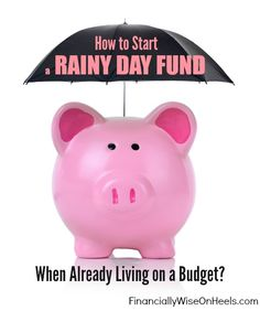The Reality Check – You Can't Afford Not to Have a Real Rainy Day Fund. But let's get even more realistic. Although it is great to put aside even a very small amount each month, it may never be enough. Follow these 2 Steps and learn how to create an emergency fund while already living on a budget!  http://www.financiallywiseonheels.com/how-to-start-an-emergency-fund-when-living-on-a-budget/  #savings #personalfinance #emergencyfund