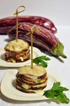 ITALIAN FOOD - TORRETTE DI MELANZANE CON TONNO (Eggplant towers recipe)