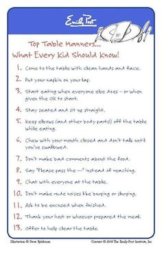 Table Manners for Kids & Everyone