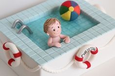 Swimming Pool Cake - KIDS CAKES - Creative Cakes by Julie