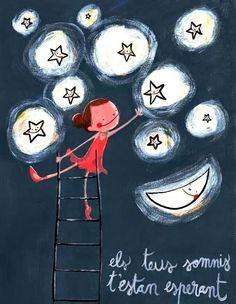 Ilustración de Joan Turú Ely, Love Quates, Coffee Cup Art, Sweet Night, Turu, Mr Wonderful, Elementary Art, Christmas Fun, Christmas Cards