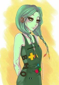 BMO as a girl and a human CUTE!!
