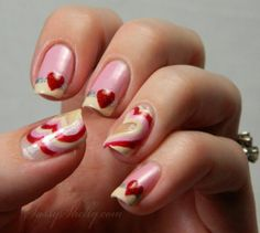 ? Valentines Day Mani ~ Peek-a-boo hearts with Zoya Nail Polish and French Tip Dip...