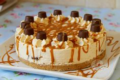 Caramel creamy cheesecake filling on top of a delicious buttery biscuit base drizzled with an extra bit of caramel and packed full of Rolo's – A delicious dessert perfect for every occasion! As it is back to school/work after the Easter break I thought that I would create the perfect pick-me-up for the week – this deliciously indulgent No-Bake Cheesecake. It is seriously SO YUMMY.I have made a few No-Bake cheesecakes in my time now, as well as a scrumptious baked one, all of which can b...