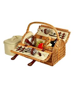 Another great find on #zulily! Sussex Two-Person Picnic Basket #zulilyfinds