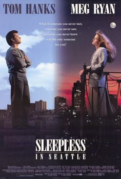 Sleepless in Seattle June 1993 Running time 106 minutes American romantic comedy film directed and co-written by Nora Ephron. Based on a story by Jeff Arch, it stars Tom Hanks as Sam Baldwin and Meg Ryan as Annie Reed. Film Movie, See Movie, Comedy Film, Movie Sequels, Movie Titles, Film 2017, Old Movies, Great Movies, Sleepless In Seattle