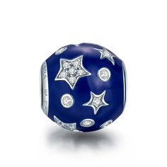 NinaQueen *Dreamland* 925 Sterling Silver Clear Zirconia Blue Star Charms Fits Pandora Bracelet(NinaQueen fine jewelry is designed in Paris in limited edition collections.NinaQueen patents its designs in 64 countries around the world. Enjoy the beauty,luxury, and quality of NinaQueen) >>> You can get additional details at the image link.