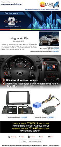 Interface KIA - Sistema  http://www.miamicenter.cl/kia/radio-kia-sorento.html