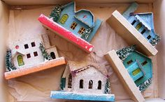Vintage Putz houses - have some from when I was young and am collecting more.  Love them!
