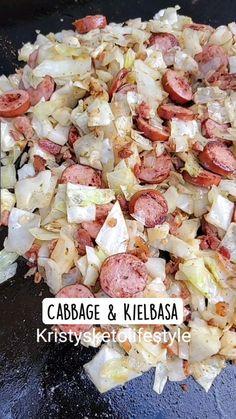Cabbage Recipes, Pork Recipes, Diet Recipes, Cooking Recipes, Healthy Recipes, Allergy Free Recipes, Low Carb Recipes, Kielbasa, Recipes