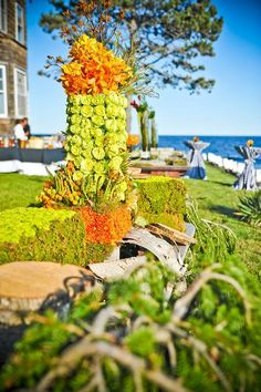 floral display for event in Kennebunkport by Michelle Rose