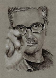 Stéphane Charbonnier, dit Charb 100115 L'art Du Portrait, Portraits, Paris 13, Charlie Hebdo, Dit, Caricature, Personality, Drawings, Artwork