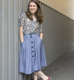 Burdastyle button front skirt #burdastyle #member #project #sewing #sew #diy