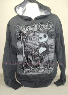 Nightmare before Christmas Jack Skellington Scary Teddy hoodie NWOT adult large